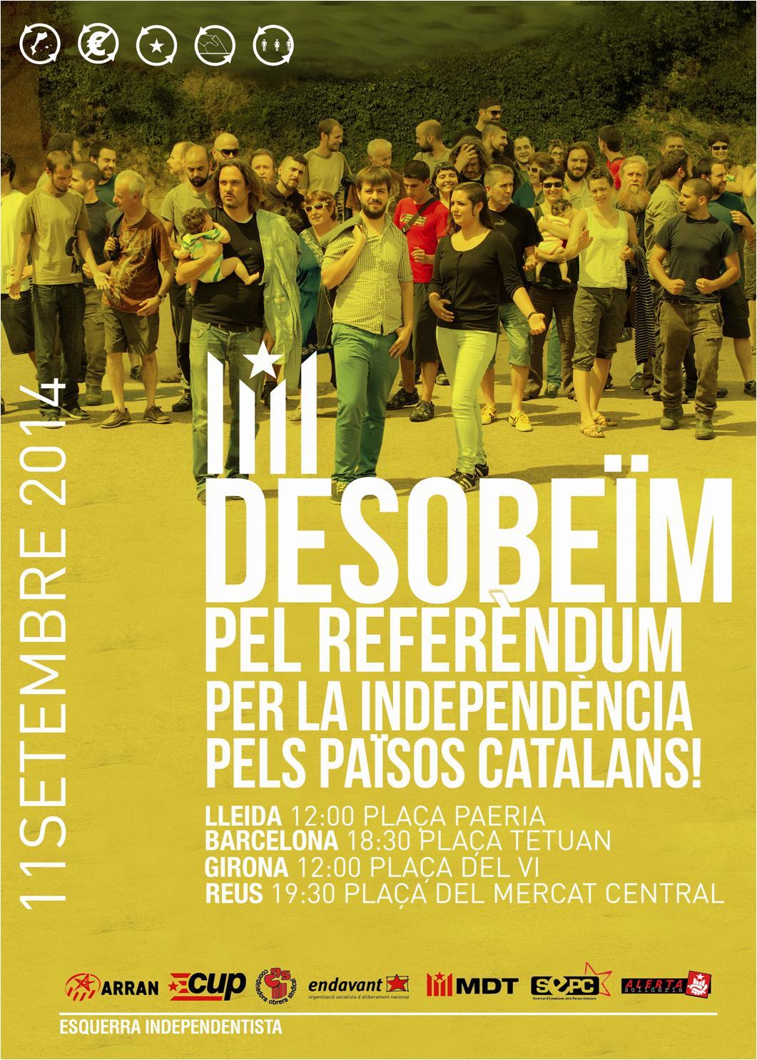 Onze de setembre de 2014: Desobeïm! Pel referèndum, per la independència i pels Països Catalans