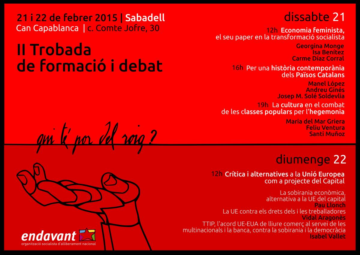 Trobada nacional de formació i debat  [Sabadell, 21 i 22 de febrer]
